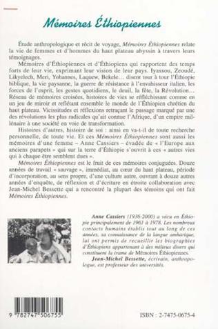 4eme MEMOIRES ETHIOPIENNES