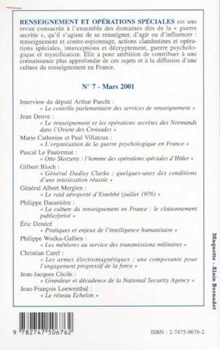 4eme RENSEIGNEMENT ET OPÉRATIONS SPÉCIALES N°7