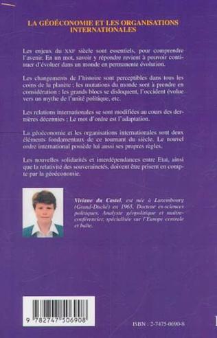 4eme LA GÉOÉCONOMIE ET LES ORGANISATIONS INTERNATIONALES