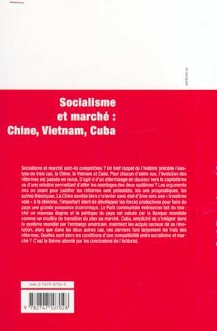 4eme SOCIALISME ET MARCHÉ : CHINE, VIETNAM, CUBA
