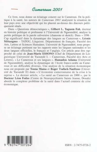 4eme CAMEROUN 2001