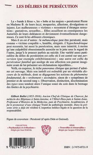 4eme LES DÉLIRES DE PERSÉCUTION