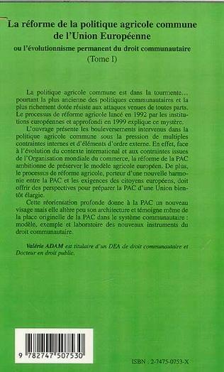 4eme LA RÉFORME DE LA POLITIQUE AGRICOLE COMMUNE DE L'UNION EUROPEENNE