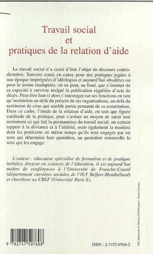 4eme TRAVAIL SOCIAL ET PRATIQUES DE LA RELATION D'AIDE