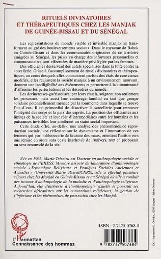 4eme RITUELS DIVINATOIRES ET THÉRAPEUTIQUES CHEZ LES MANJAK DE GUINÉE-BISSAU ET DU SÉNÉGAL