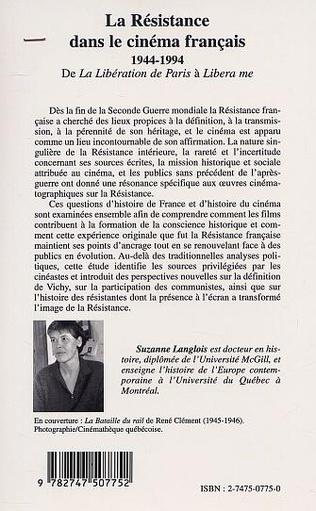 4eme LA RÉSISTANCE DANS LE CINÉMA FRANÇAIS 1944-1994