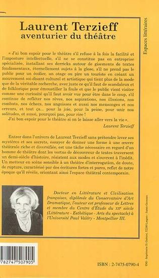 4eme LAURENT TERZIEFF AVENTURIER DU THÉÂTRE
