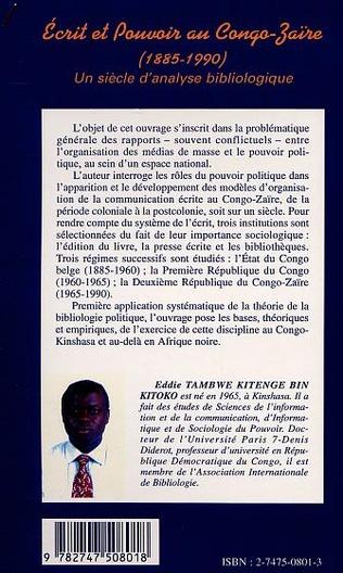4eme ECRIT ET POUVOIR AU CONGO-ZAÏRE (1885-199)