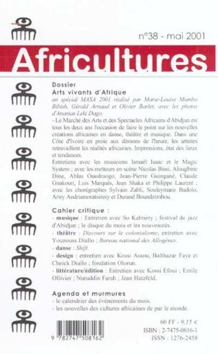 4eme Arts vivants d'Afrique (MASA 2001)