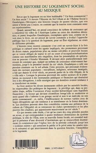 4eme UNE HISTOIRE DU LOGEMENT SOCIAL AU MEXIQUE
