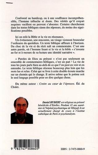 4eme PAROLES DE DIEU AU PRÉSENT