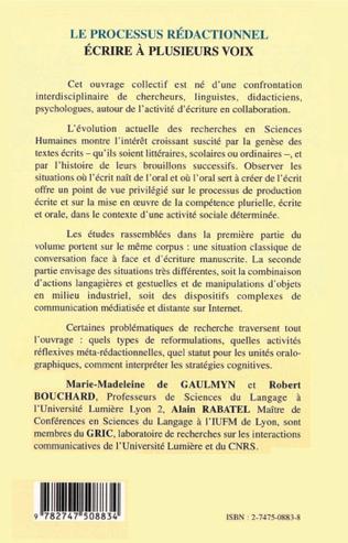 4eme LE PROCESSUS RÉDACTIONNEL