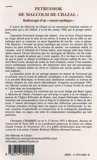 4eme PETRUSMOK DE MALCOM DE CHAZAL