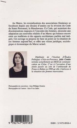 4eme LA CONDITION DE LA FEMME MAROCAINE