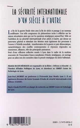 4eme LA SÉCURITÉ INTERNATIONALE D'UN SIÈCLE À L'AUTRE