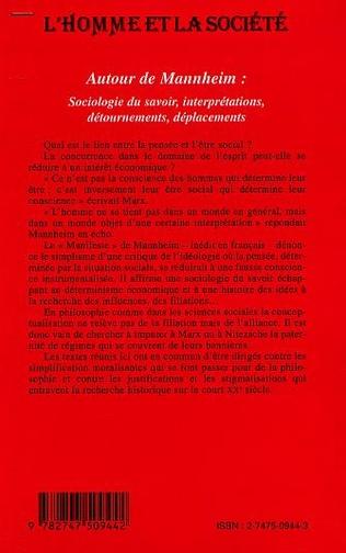 4eme AUTOUR DE MANHEIM : sociologie du savoir, interprétations, détournements, déplacements