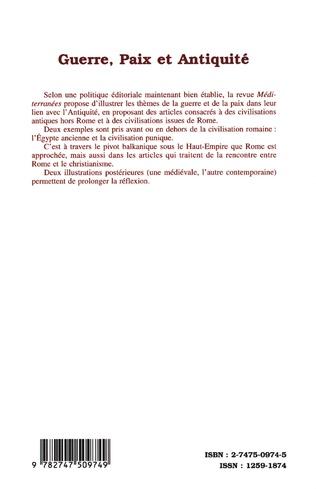 4eme GUERRE, PAIX ET ANTIQUITÉ