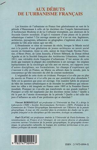 4eme AUX DEBUTS DE L'URBANISME FRANÇAIS