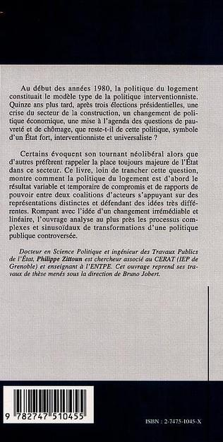 4eme LA POLITIQUE DU LOGEMENT 1981-1995 Transformations d'une politique publique controversée