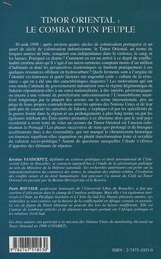 4eme TIMOR ORIENTAL : LE COMBAT D'UN PEUPLE