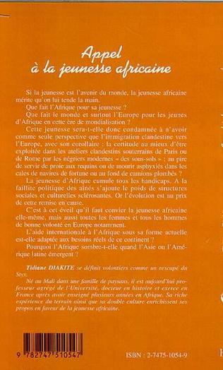 4eme APPEL À LA JEUNESSE AFRICAINE
