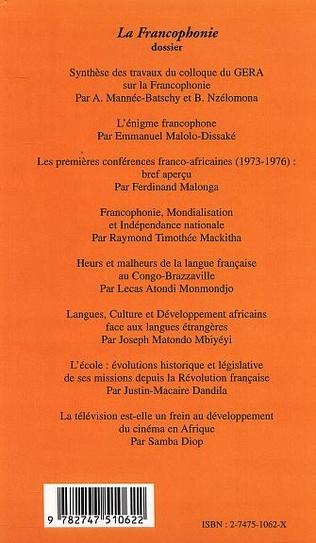 4eme LA FRANCOPHONIE