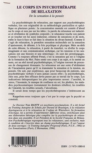 4eme LE CORPS EN PSYCHOTHERAPIE DE RELAXATION