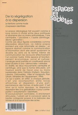 4eme DE LA SÉGRÉGATION À LA DISPERSION
