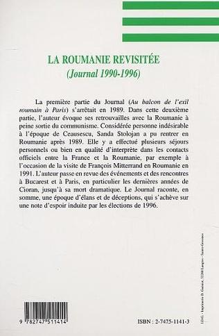 4eme LA ROUMANIE REVISITÉE (JOURNAL 1990-1996)