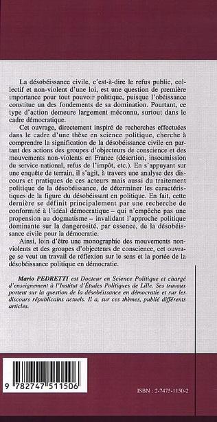 4eme LA FIGURE DU DÉSOBÉISSANT EN POLITIQUE