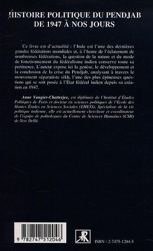 4eme HISTOIRE POLITIQUE DU PENJAB DE 1947 A NOS JOURS
