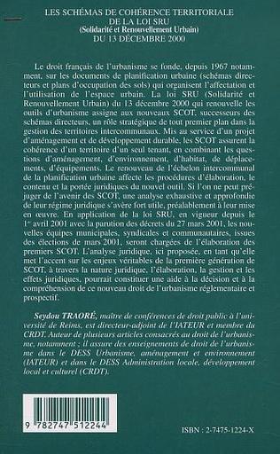 4eme LES SCHÉMAS DE COHÉRENCE TERRITORIALE DE LA LOI SRU (Solidarité et Renouvellement Urbain) DU 13 DECEMBRE 2000