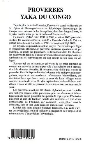 4eme PROVERBES YAKA DU CONGO