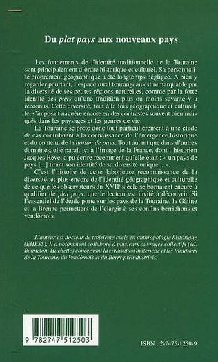 4eme HISTOIRE DES IDENTITÉS DE PAYS EN TOURAINE (XVIe-XXe siècle)