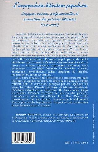 4eme L'IMPOPULAIRE TELEVISION POPULAIRE