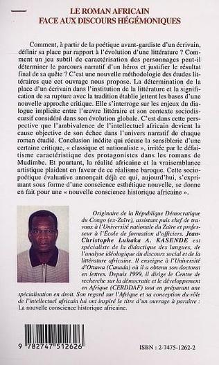 4eme LE ROMAN AFRICAIN FACE AUX DISCOURS HÉGÉMONIQUES