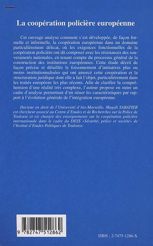4eme LA COOPÉRATION POLICIÈRE EUROPÉENNE