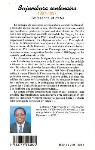 4eme BUJUMBURA CENTENAIRE 1897-1997
