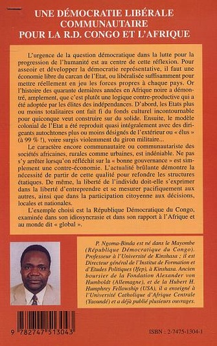 4eme UNE DÉMOCRATIE LIBÉRALE COMMUNAUTAIRE POUR LA R.D. CONGO ET L'AFRIQUE