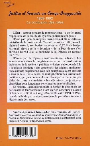 4eme JUSTICE ET POUVOIR AU CONGO-BRAZZAVILLE 1958-1992