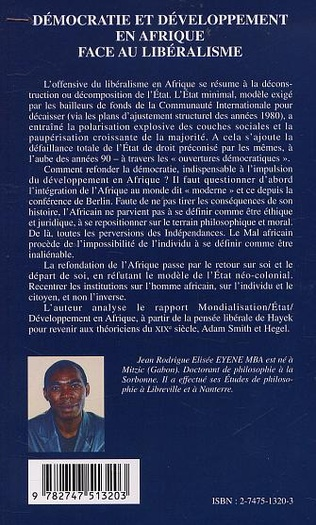4eme DÉMOCRATIE ET DÉVELOPPEMENT EN AFRIQUE FACE AU LIBÉRALISME