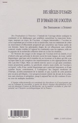 4eme DIX SIÈCLES D'USAGES ET D'IMAGES DE L'OCCITAN