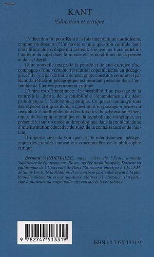 4eme Kant, éducation et critique
