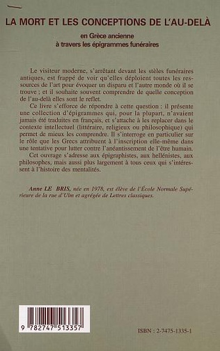 4eme LA MORT ET LES CONCEPTIONS DE L'AU-DELÀ EN GRÈCE ANCIENNE À TRAVERS LES ÉPIGRAMMES FUNÉRAIRES