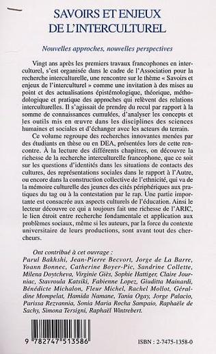 4eme SAVOIRS ET ENJEUX DE L'INTERCULTUREL