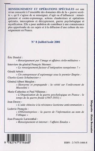 4eme RENSEIGNEMENT et OPÉRATIONS SPÉCIALES N° 8