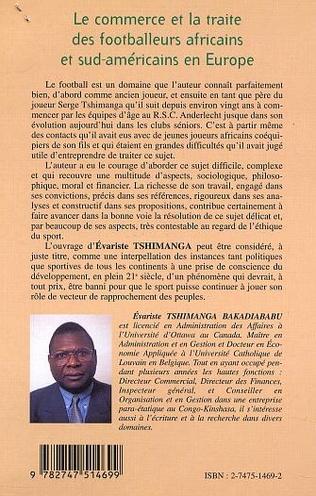 4eme LE COMMERCE ET LA TRAITE DES FOOTBALLEURS AFRICAINS ET SUD-AMÉRICAINS EN EUROPE