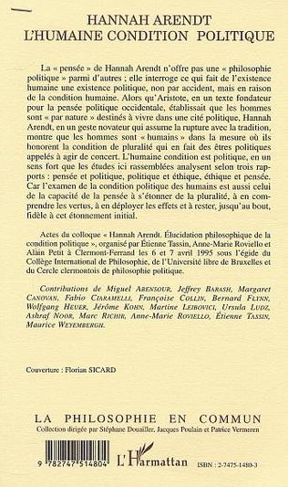 4eme HANNAH ARENDT L'Humaine condition politique