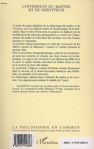 4eme L'INVERSION DU MAITRE ET DU SERVITEUR
