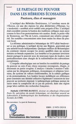 4eme LE PARTAGE DU POUVOIR DANS LES HÉBRIDES ÉCOSSAISES